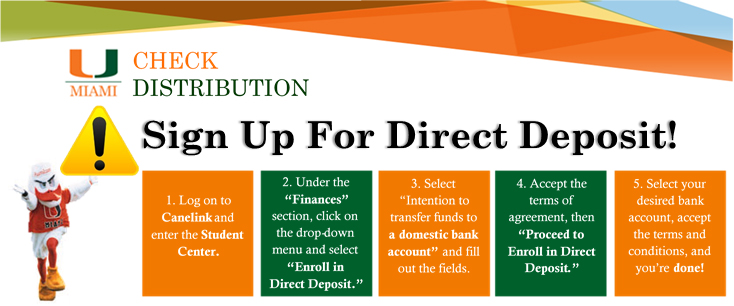 How to enroll in direct deposit.